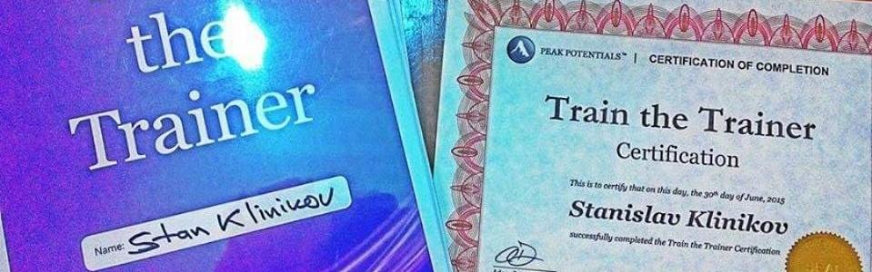 Повышение квалификации и сертификация на курсе TRAIN THE TRAINER (Орландо)